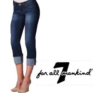 *7 FOR ALL MANKIND* Mia Roll Cuff Capri Jeans 27